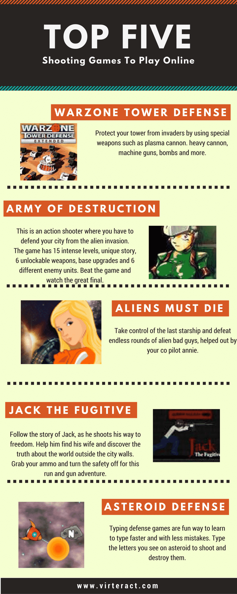 shooting games infographic