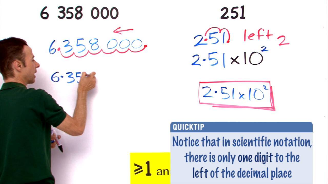 Standard Form and Scientific Notation
